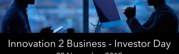 Innovation 2 Business – Investor Day, 22 Novembre 2019